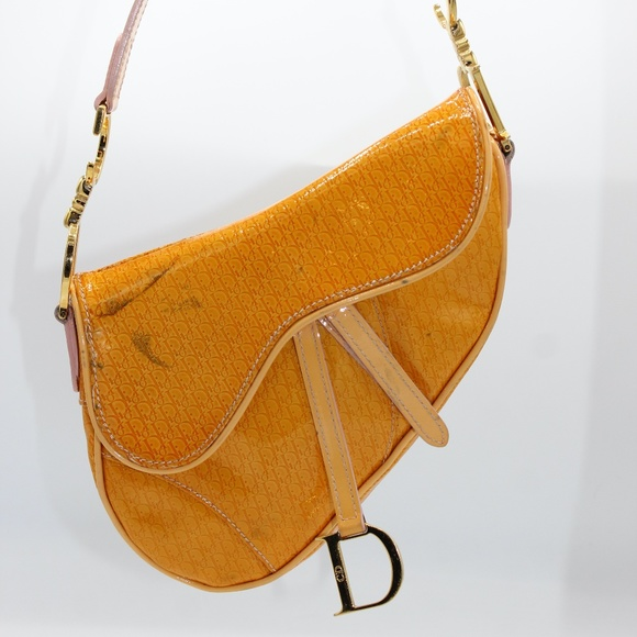 Dior Handbags - Christian Dior Vintage Mini Saddle Bag